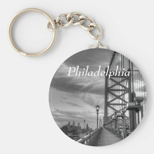 Philly from the bridge keychain