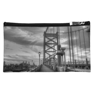 Philly from the bridge makeup bag