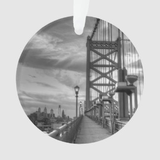 Philly from the bridge ornament