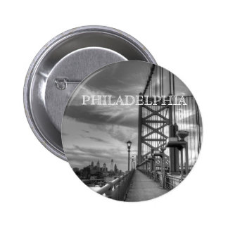 Philly from the bridge pinback button
