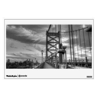 Philly from the bridge wall sticker