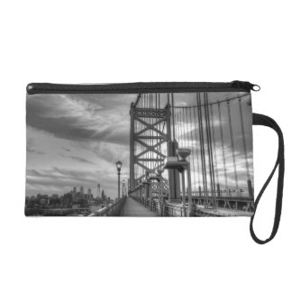 Philly from the bridge wristlet purses