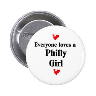 Philly Girl 2 Inch Round Button