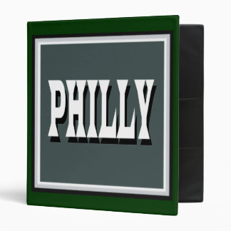 Philly Green Square Binder