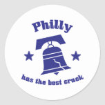 Philly Has The Best Crack Classic Round Sticker