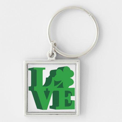 """Philly"" Irish love Keychains"