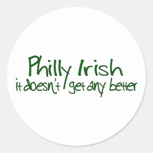 Philly Irish Round Stickers