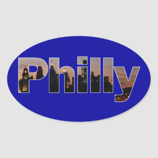 Philly Letters Oval Sticker