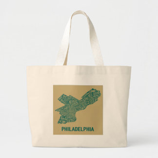 Philly Map T-Shirt Canvas Bag