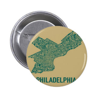 Philly Map T-Shirt Buttons