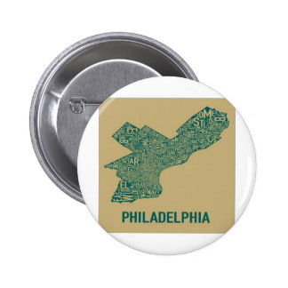 Philly Map T-Shirt Button