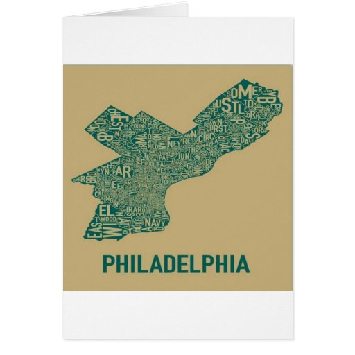 Philly Map T-Shirt Greeting Card