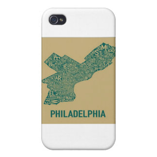 Philly Map T-Shirt Covers For iPhone 4