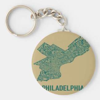 Philly Map T-Shirt Keychain