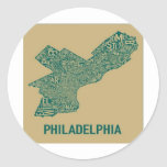 Philly Map T-Shirt Sticker