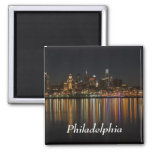 Philly night 2 inch square magnet