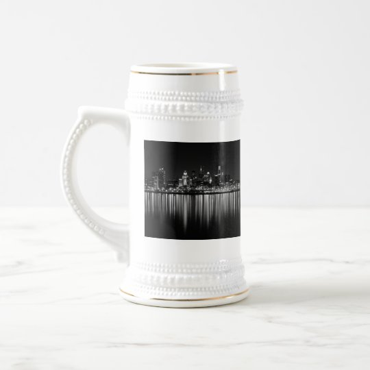 Philly night b/w beer stein