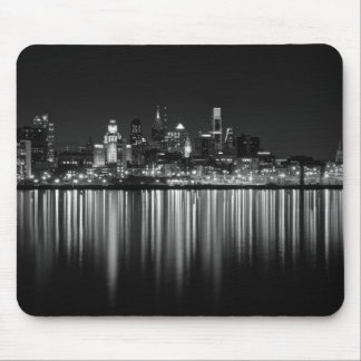 Philly night b/w mouse pad
