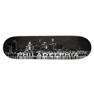 Philly night b/w skateboard decks