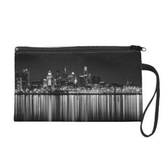 Philly night b/w wristlet purses