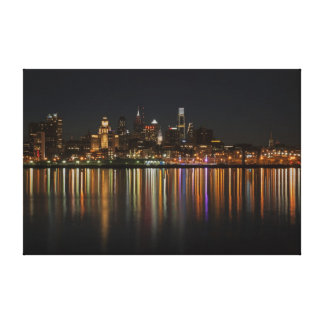 Philly night canvas prints