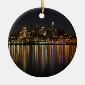 Philly night Double-Sided ceramic round christmas ornament