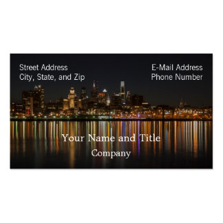 Philly night Double-Sided standard business cards (Pack of 100)