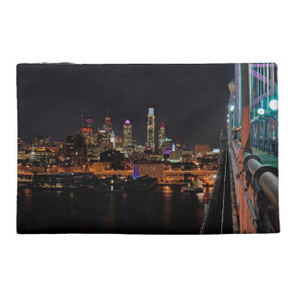 Philly night from bridge travel accessory bag