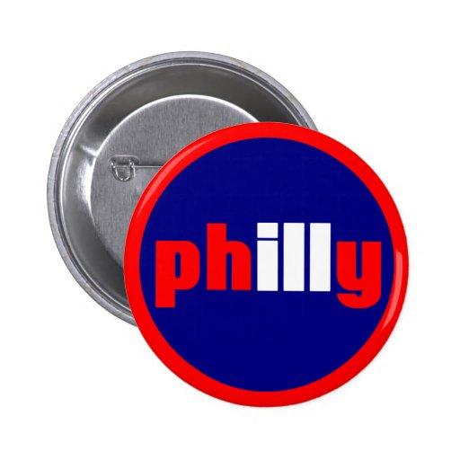 Philly Pin Redondo De 2 Pulgadas