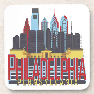 Philly Red & Blue Coasters