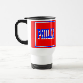 Philly Red Square Travel Mug