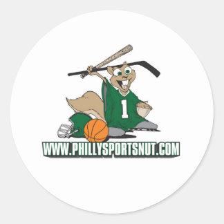 Philly se divierte la nuez pegatina redonda