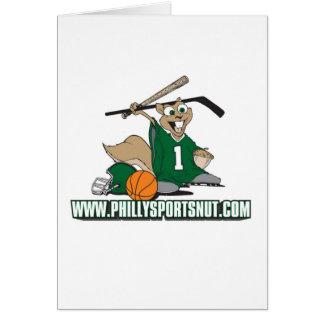 Philly se divierte la nuez tarjeta de felicitación
