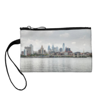 Philly skyline 2 coin wallets