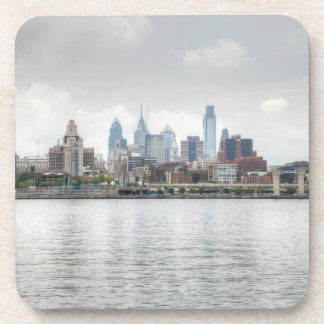 Philly skyline 2 drink coasters