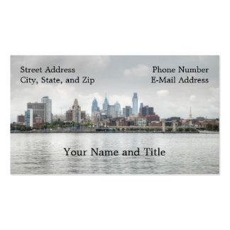 Philly skyline 2 Double-Sided standard business cards (Pack of 100)