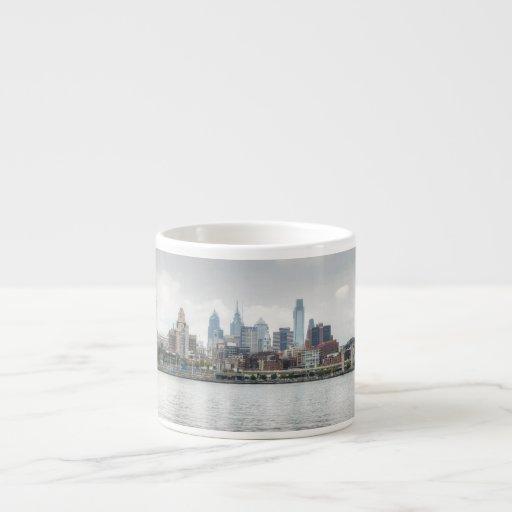 Philly skyline 2 espresso mug