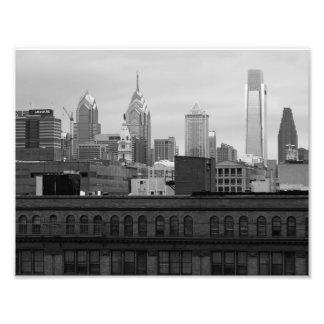 Philly Skyline 8x10 B&W PHOTO PRINT