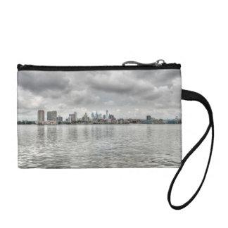 Philly skyline change purses