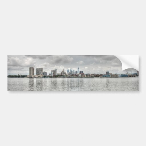 Philly skyline bumper stickers