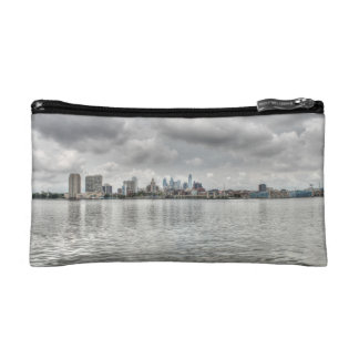 Philly skyline cosmetic bag