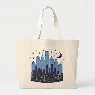 Philly Skyline mega cool Large Tote Bag