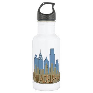 Philly Skyline newwave beachy 18oz Water Bottle