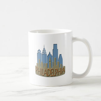 Philly Skyline newwave beachy Coffee Mug