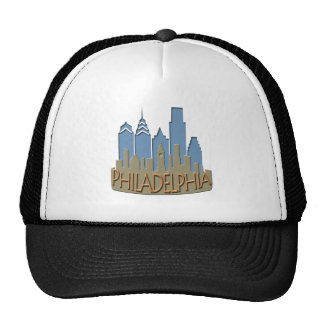 Philly Skyline newwave beachy Hats