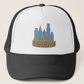 Philly Skyline newwave beachy Trucker Hat