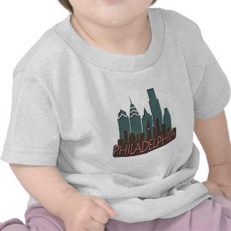 Philly Skyline newwave chocolate Shirt