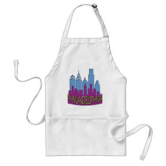 Philly Skyline newwave cool Adult Apron