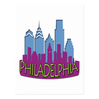 Philly Skyline newwave cool Post Card