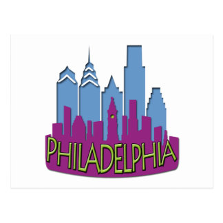 Philly Skyline newwave cool Postcards